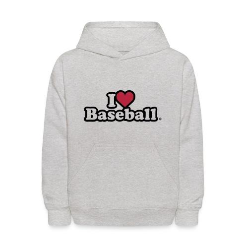 I Heart Baseball® Kid's Grey Hoodie - Kids' Hoodie