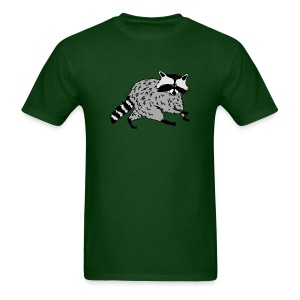 animal t-shirt raccoon racoon coon bear - Men's T-Shirt