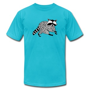 animal t-shirt raccoon racoon coon bear - Men's T-Shirt by American Apparel