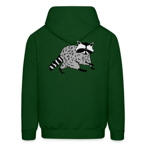 animal t-shirt raccoon racoon coon bear - Men's Hoodie