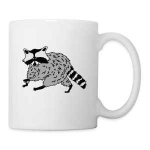 animal t-shirt raccoon racoon coon bear - Coffee/Tea Mug