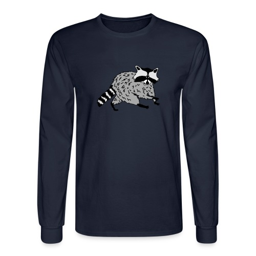 animal t-shirt raccoon racoon coon bear - Men's Long Sleeve T-Shirt