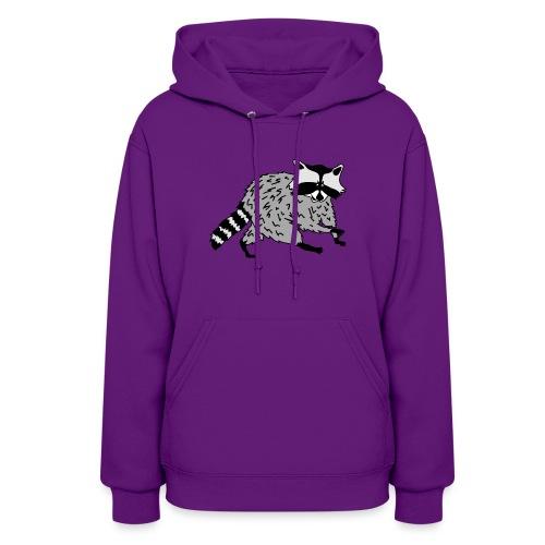 animal t-shirt raccoon racoon coon bear - Women's Hoodie