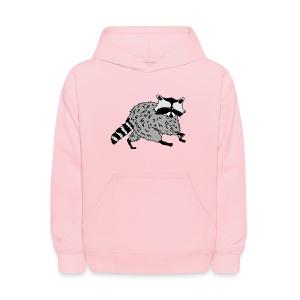 animal t-shirt raccoon racoon coon bear - Kids' Hoodie