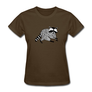 animal t-shirt raccoon racoon coon bear - Women's T-Shirt