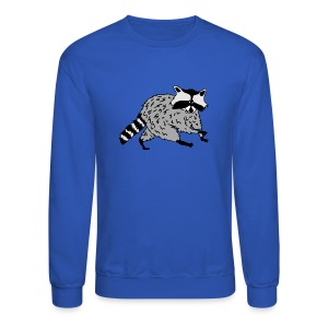 animal t-shirt raccoon racoon coon bear - Crewneck Sweatshirt