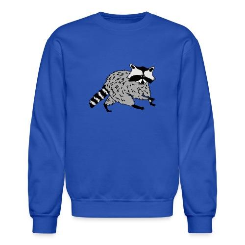 animal t-shirt raccoon racoon coon bear - Crewneck Sweatshirt