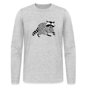 animal t-shirt raccoon racoon coon bear - Men's Long Sleeve T-Shirt by Next Level
