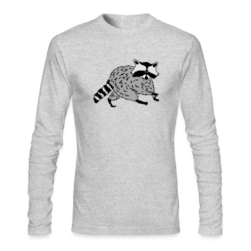 animal t-shirt raccoon racoon coon bear - Men's Long Sleeve T-Shirt by Next Level