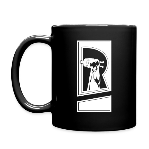 Review Spot White Logo Black Mug - Full Color Mug