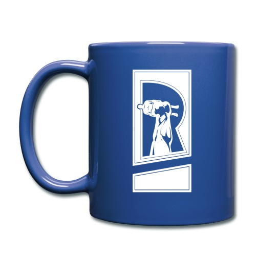 Review Spot White Logo Blue Mug - Full Color Mug