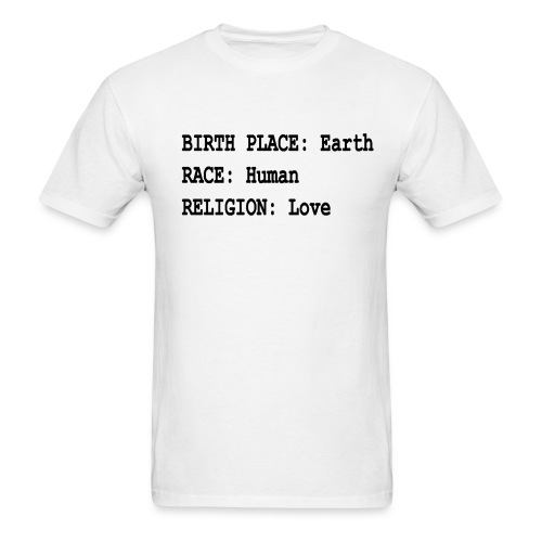 BIRTH PLACE EARTH - Men's T-Shirt