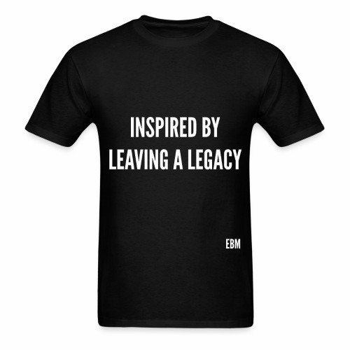 Black Men's INSPIRED BY LEAVING A LEGACY Slogan Quotes T-shirt Clothing by Stephanie Lahart - Men's T-Shirt