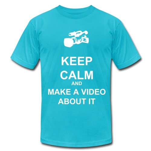 Keep Calm And Make A Video About It - Men - Men's Fine Jersey T-Shirt