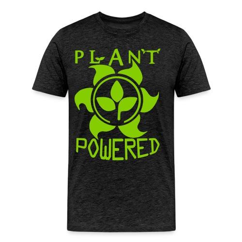 Plant Powered Neon Green Tee - Men's Premium T-Shirt