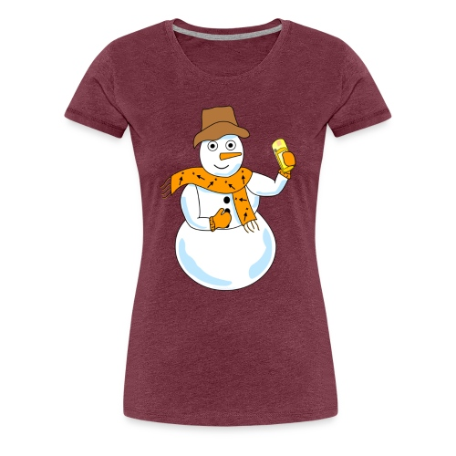 Snowman Geocacher - Women's Premium T-Shirt