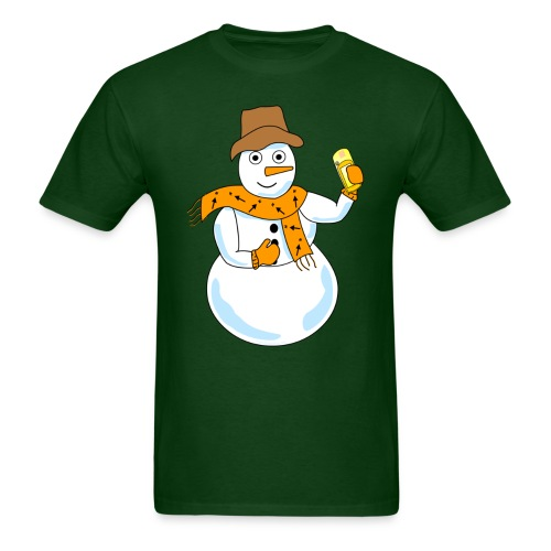 Snowman Geocacher - Men's T-Shirt