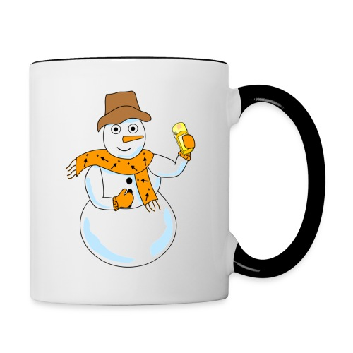 Snowman Geocacher - Contrast Coffee Mug