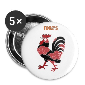 Tobi's Cock Button 2 1/4 - Large Buttons