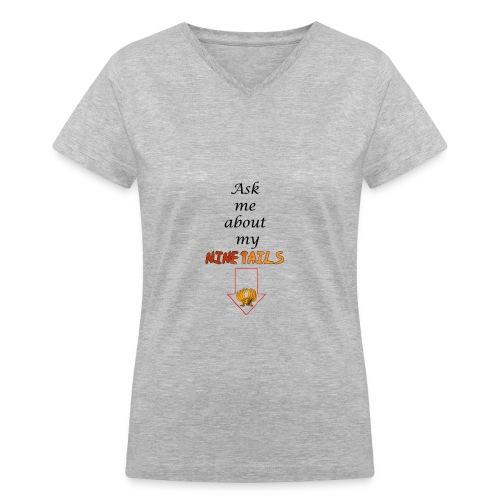 My Ninetails Women's V-Neck Tee - Women's V-Neck T-Shirt