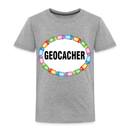 GPS Geocacher Oval - Toddler Premium T-Shirt