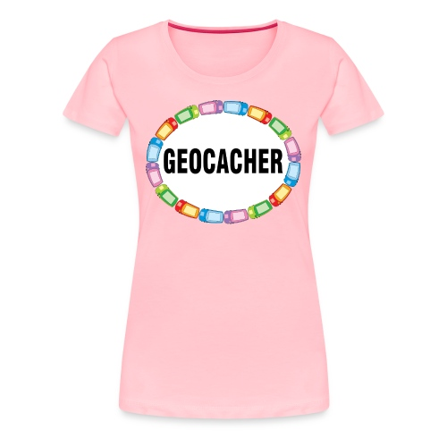 GPS Geocacher Oval - Women's Premium T-Shirt