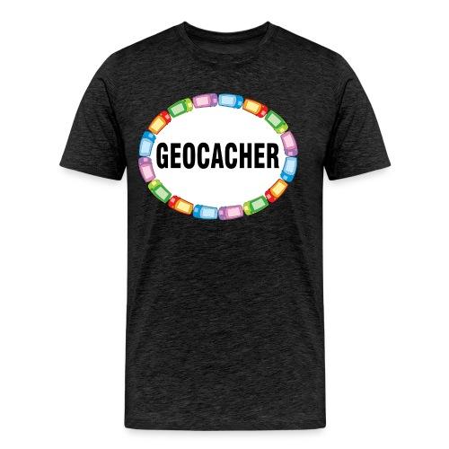 GPS Geocacher Oval - Men's Premium T-Shirt