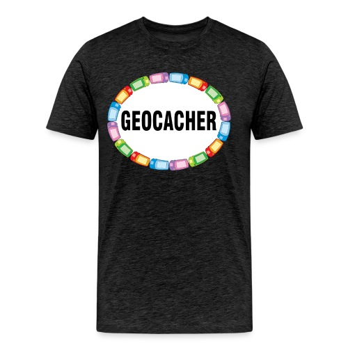 GPS Geocacher Oval - Men's Premium T-Shirt