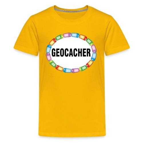 GPS Geocacher Oval - Kids' Premium T-Shirt