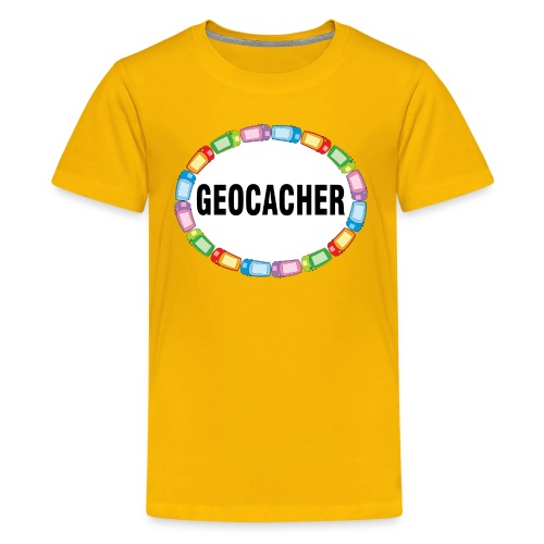 GPS Geocacher Oval - Kids' Premium T-Shirt