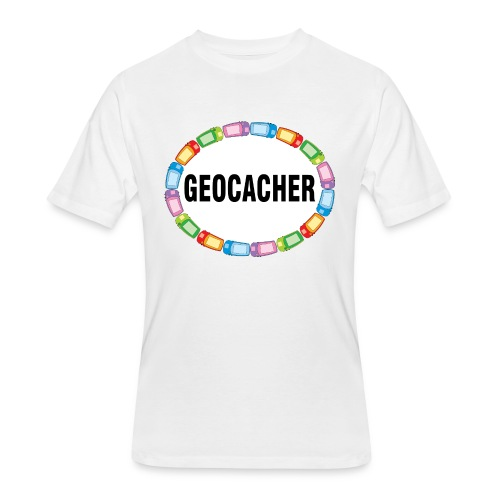 GPS Geocacher Oval - Men's 50/50 T-Shirt