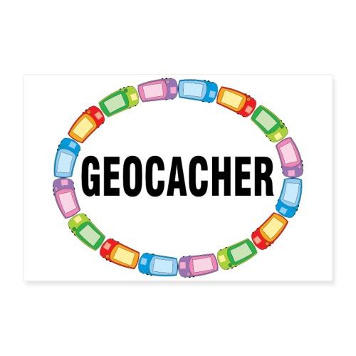 GPS Geocacher Oval - Poster 12x8