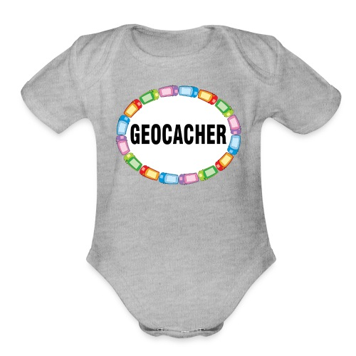 GPS Geocacher Oval - Organic Short Sleeve Baby Bodysuit