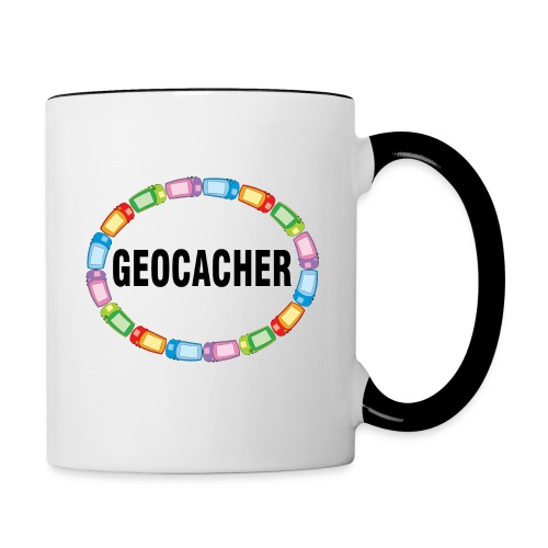 GPS Geocacher Oval - Contrast Coffee Mug