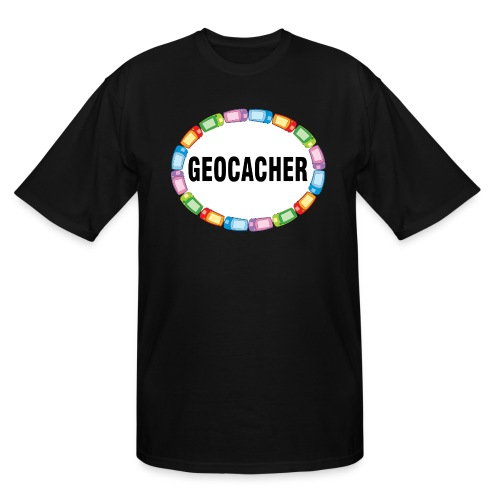 GPS Geocacher Oval - Men's Tall T-Shirt