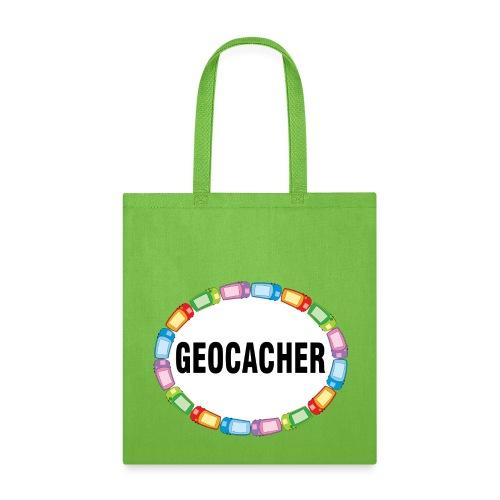 GPS Geocacher Oval - Tote Bag