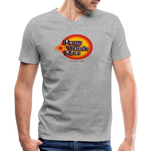 Penny Whistle Place - Men's V-Neck T-Shirt by Canvas