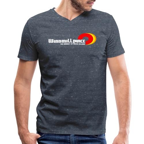 Windmill Place - Men's V-Neck T-Shirt by Canvas