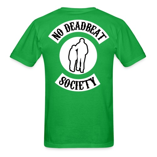 NDBS Back Rocker Adult T-shirt (Green) - Men's T-Shirt