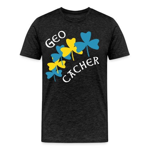 Geocacher Shamrocks - Men's Premium T-Shirt