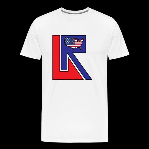 Lets Ride USA BIG Logo Shirt - Men's Premium T-Shirt