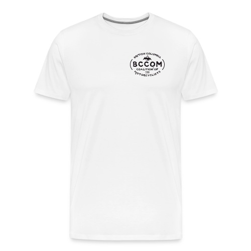 BCCOM 2018 T-shirt Left White - Men's Premium T-Shirt