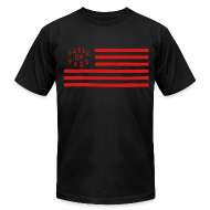 T-Shirts ~ Men's T-Shirt by American Apparel ~ Fukkk Da Feds Flag Tee