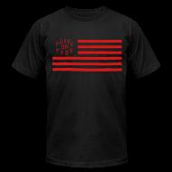 T-Shirts ~ Men's T-Shirt by American Apparel ~ Fukkk Da Feds Flag Tee