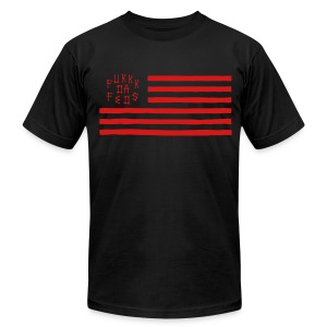 Fukkk Da Feds Flag Tee - Men's T-Shirt by American Apparel