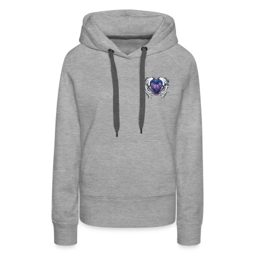 Womens Hoodie Stone Heart - Women's Premium Hoodie