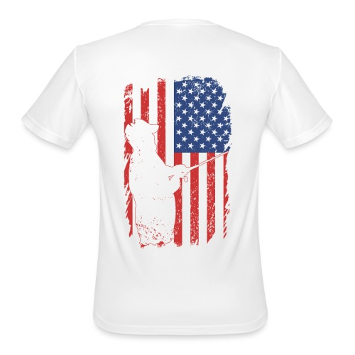 Smal Front / Flag (moisture wick) - Men's Moisture Wicking Performance T-Shirt