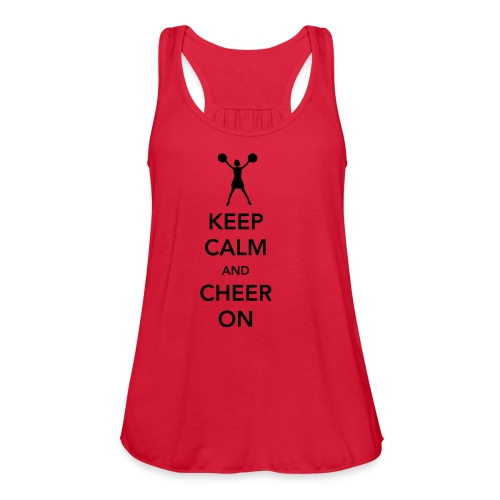 Keep Calm TankTop - Women's Flowy Tank Top by Bella
