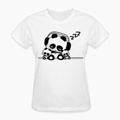 Sleeping Pandas Women's T-Shirts