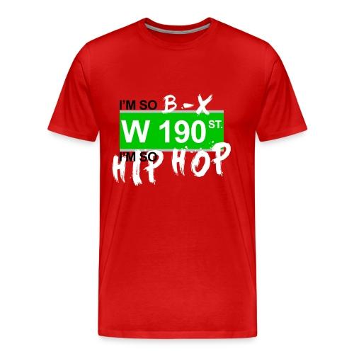 W 190th Red Design - Men's Premium T-Shirt